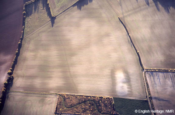Aerial Photo of Dampney Long Barrow