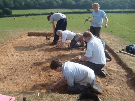 Volunteers and students at work on Pegasus Barrow.